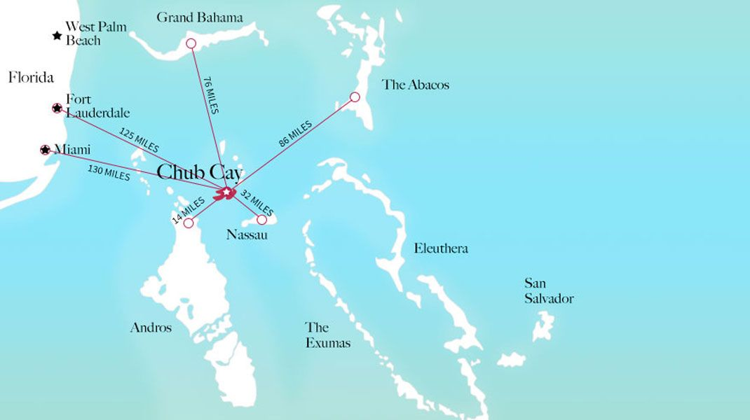Chub Cay Map